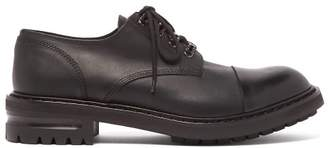Alexander McQueen Raised Tread Sole Leather Derby Shoes - Mens - Black