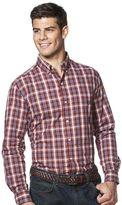 Chaps Men's Easycare Classic-Fit Large Multi Check Button-Down Shirt