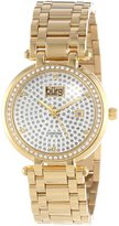 Burgi Women's BUR078YG Stainless Steel Pave Pattern Diamond Bracelet Watch