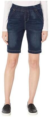 Jag Jeans Petite Petite Gracie Pull-On Bermuda Shorts (Baltic Blue) Women's Shorts