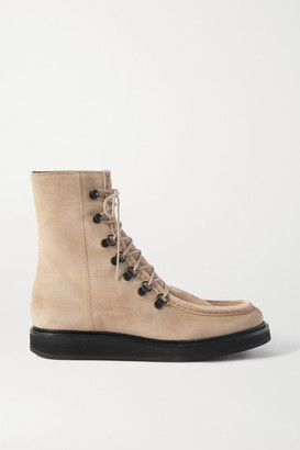 LEGRES 16 College Suede Ankle Boots - Sand