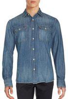 Jean Shop Two-Pocket Long Sleeve Cotton Shirt