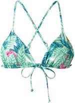 Mara Hoffman leaf print triangle bikini top