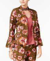 XOXO Juniors' Printed Ruffle-Sleeve Jacket