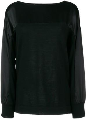 Alberta Ferretti Lace Panel Sweatshirt