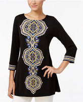 JM Collection Petite Embellished Tunic, Only at Macy's