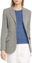 Polo Ralph Lauren Silk & Linen Blend Herringbone Jacket