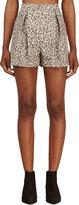 Giambattista Valli Beige Leopard Pleated Shorts