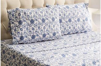 Belle Epoque Paisley Flannel Sheet Set - Blue Twin
