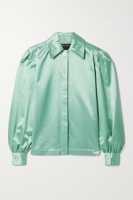 Meryll Rogge Cotton-blend Satin Shirt - Mint