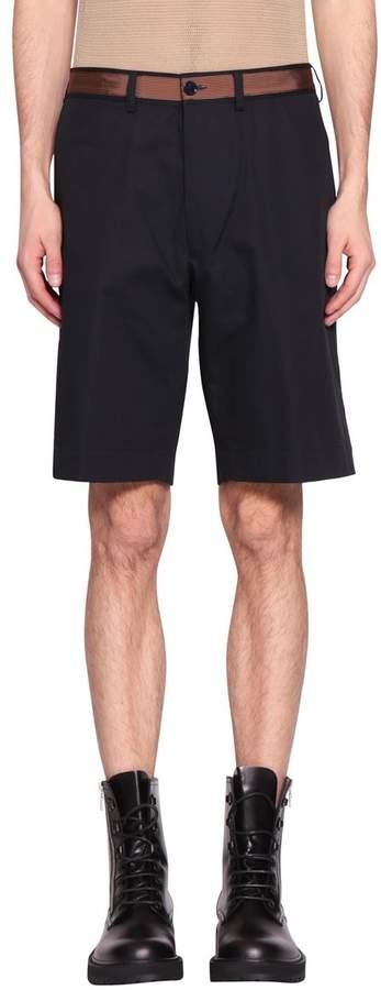 Dries Van Noten Pasadena Tape Cotton Shorts
