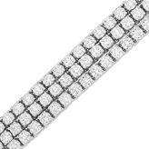 Zales 24 CT. T.W. Diamond Three Row Bracelet in 14K White Gold (J/SI2)