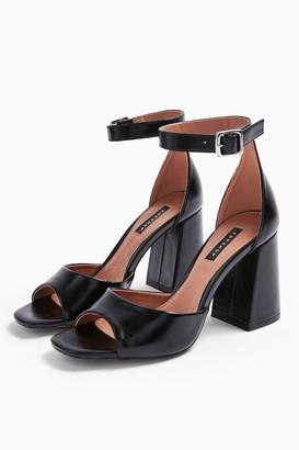 Topshop SADIE Black Block Heels