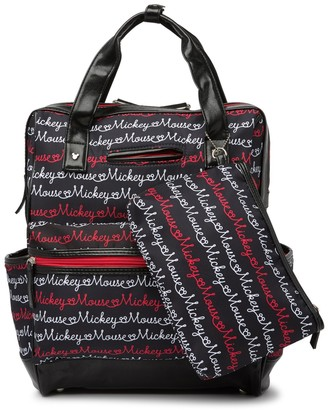 Confetti Disney(R) Mickey Script Diaper Backpack