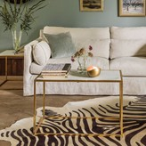 Graham and Green Odell Gold And Marble Coffee Table