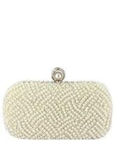 Menbur 'Pearl' Minaudiere - White