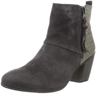 Black Women's Leder-Stiefelette Ankle Boots,6 UK