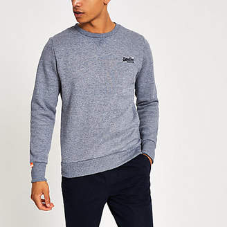 River Island Superdry grey Orange Label sweatshirt