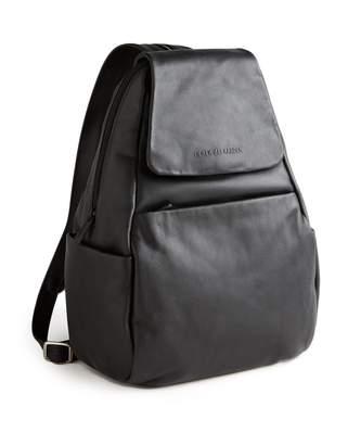 Derek Alexander Leather Flap Backpack