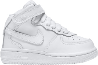 Nike Force 1 Mid Basketball Shoes - White