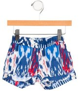 Oscar de la Renta Girls' Printed Mini Shorts