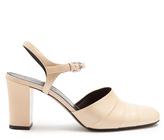Jil Sander Block-heel leather pumps