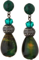 Lydell NYC Beaded Semi-Teardrop Earrings