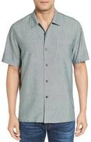Tommy Bahama Men's 'Ocean' Standard Fit Oxford Silk Camp Shirt