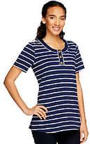 Denim & Co. Perfect Jersey Short SleeveStriped Henley