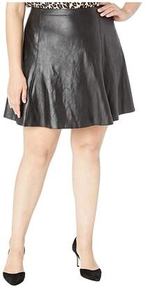Spanx Faux Leather Skater Skirt (Very Black) Women's Skirt
