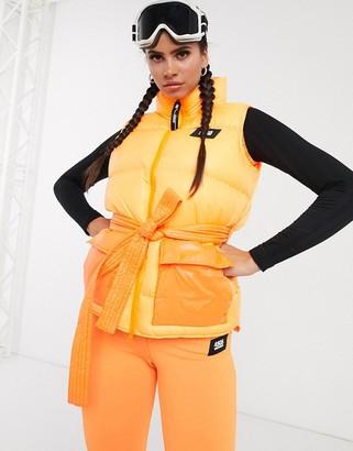 ASOS 4505 ski acid orange vest