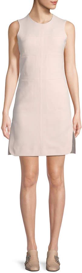 Carven Sleeveless Paneled Stitching A-Line Dress