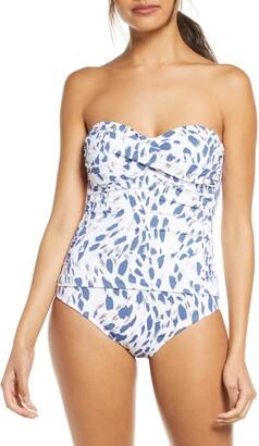 La Blanca Petals Bandeau One-Piece Swimsuit