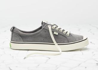 Cariuma OCA Low Stripe Charcoal Grey Suede Sneaker Women