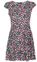 Select Fashion Fashion Womens Multi Festival Floral Rayon Tea Dress - size 6