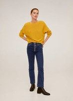 MANGO Ribbed sweater ecru - XS - Women
