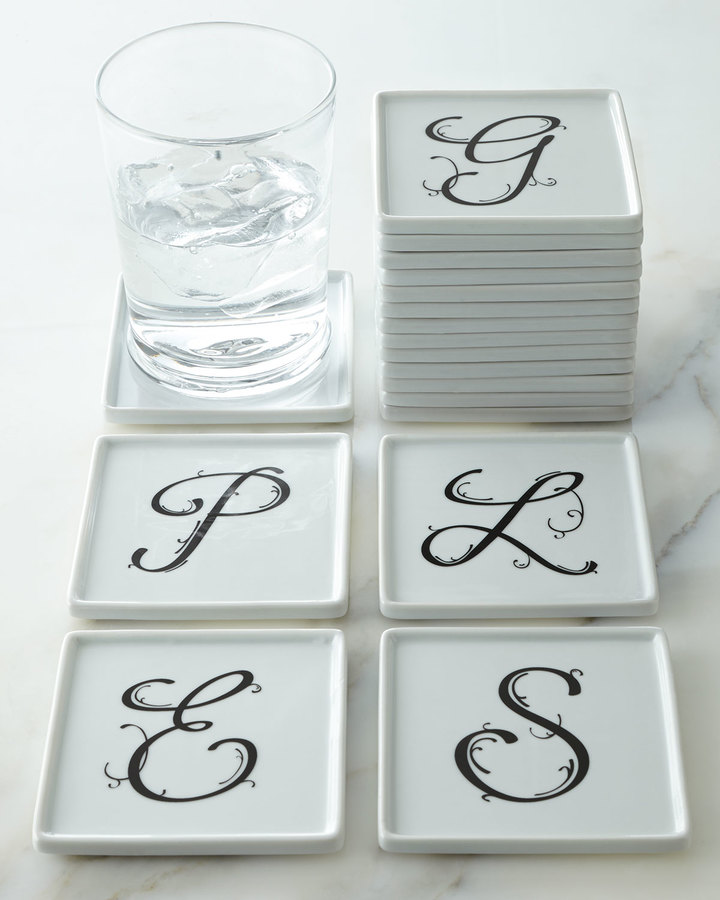 NM Exclusive Four Monogrammed Coasters