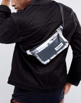 Eastpak Talky Fanny Pack In Black Texture