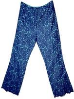 Christian Lacroix Blue Silk Trousers for Women Vintage
