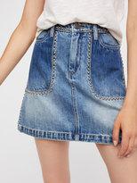 Free People Blackbuster Mini Skirt