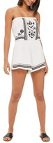 Topshop Embroidered Strapless Romper (Petite)