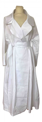 Norma Kamali White Cotton Coats