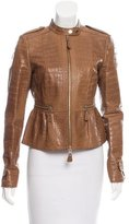 Burberry Alligator Peplum Jacket w/ Tags