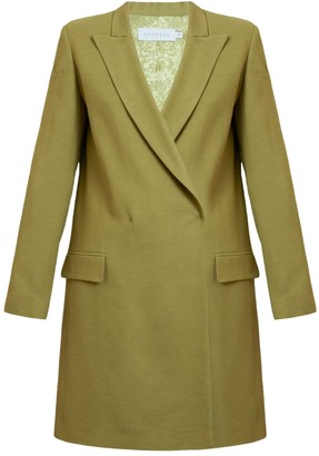 Namya Olive Green Double Breasted Mini Blazer Dress