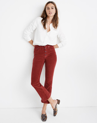 Madewell Cali Demi-Boot Jeans in Corduroy: Button-Front Edition