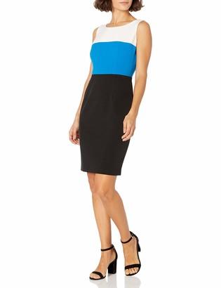 Kasper Women's Petite Tri Tone Sheath Dress
