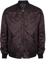 Helmut Lang Metallic Burgundy Reversible Shell Bomber Jacket