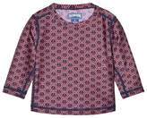 Vilebrequin Red And Navy Anchor Print UV Sun Top