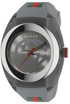 Gucci Sync Stainless Steel and Grey Rubber Strap Watch, YA137109