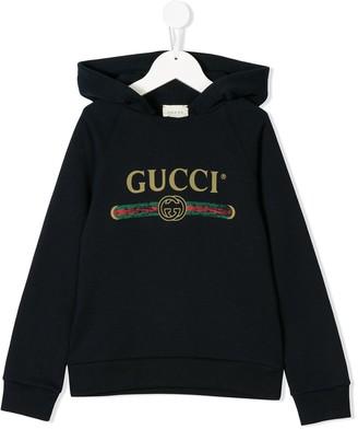 Gucci Kids vintage logo hoodie